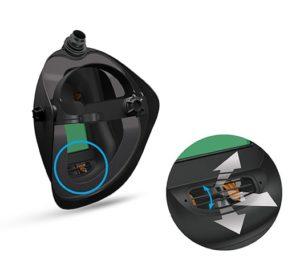 Welding helmet Clean-AIR CA-20 airflow